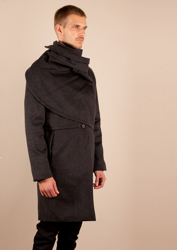 DSTM Men_s Wrapped Trench Coat, Black – Voo Store