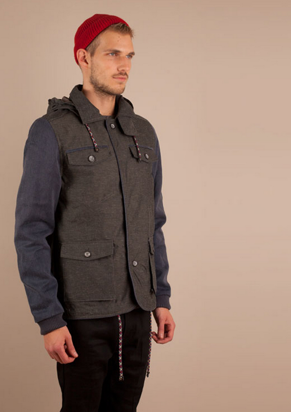Uniforms for the Dedicated Drifter Jacket, Grey_Navy – Voo Store