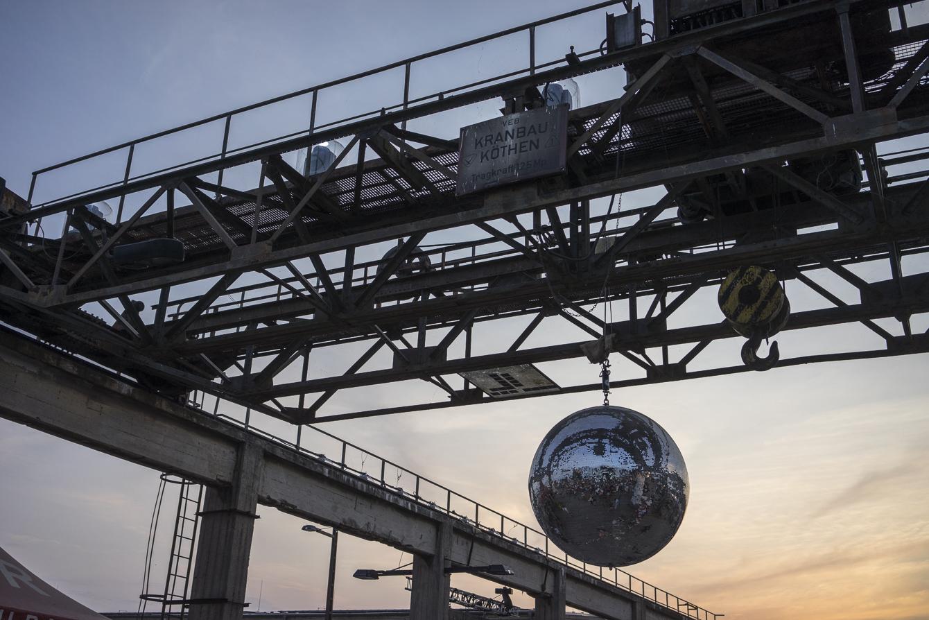 melt! ferropolis disco ball at daylight