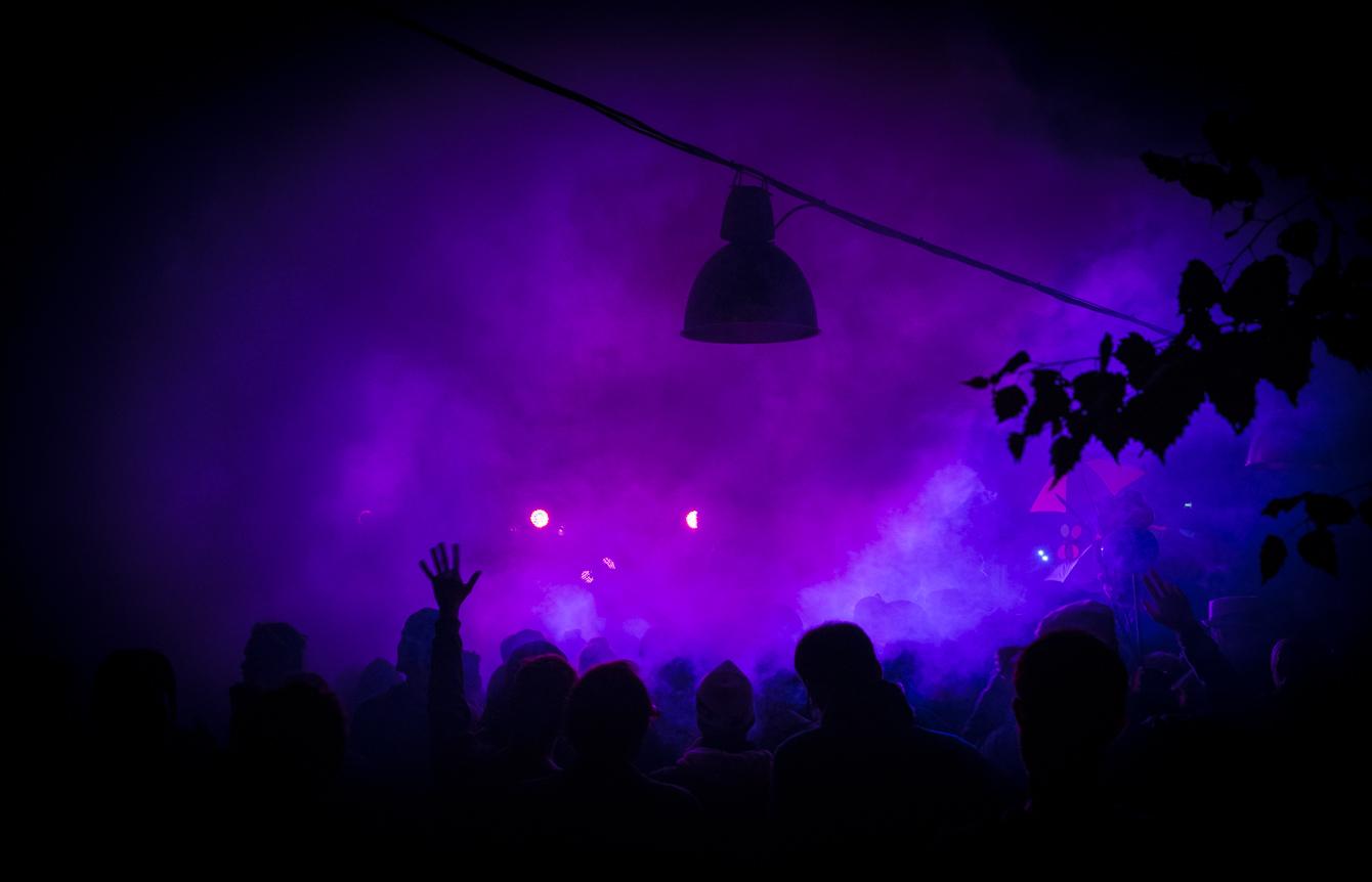 light photography_purple haze at Garbicz festival 2014