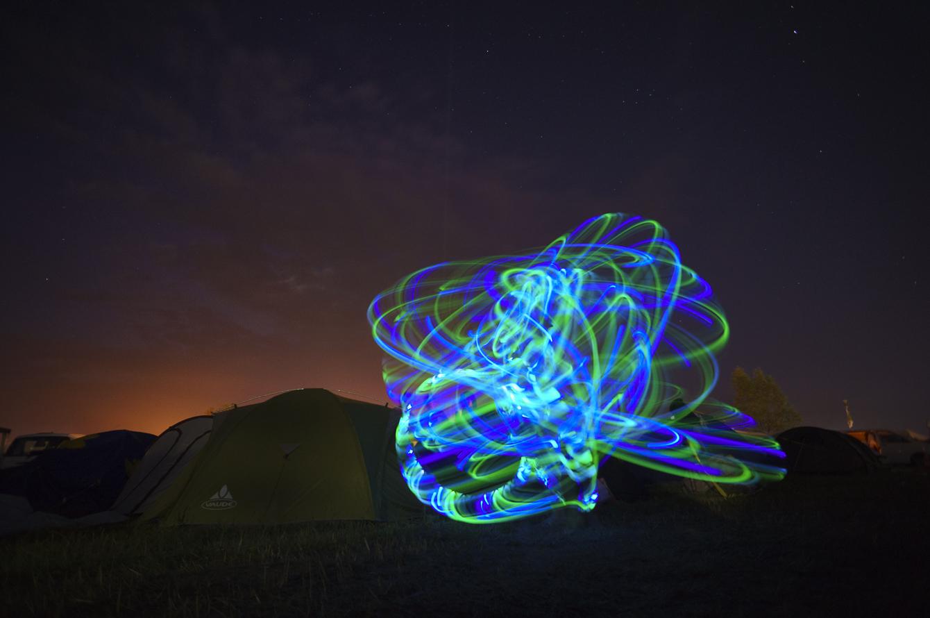 hula-hoop light mood at festival 2014