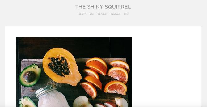 The Shiny Squirrel Tumblr Blog