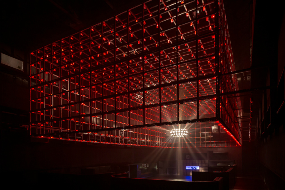 Interactive Dancefloor @The Year Club São Paulo designed by Estudio Guto Requena