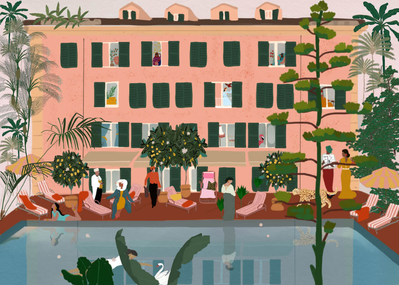 Swan Tribune Travel Illustrations
